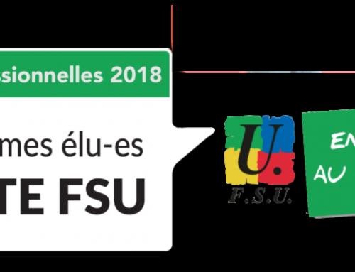 Elections professionnelles, le 6 décembre 2018 : Votez et faites voter pour la FSU et ses syndicats