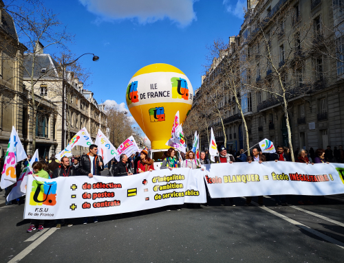 Samedi 18 mai : manifestation nationale à Paris pour le service public d'éducation et ses personnels